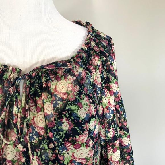 c3f9beb3ecc Love Haight Dresses | Flowy Boho Long Sleeve Blouson Dress L | Poshmark